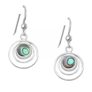 Silver Shell Circle Earrings