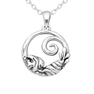 Fish Shell and Wave Pendant