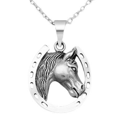 Sterling Silver Horseshoe Pendant